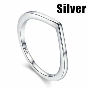 925 Sterling Silver Simple Dainty V-Shaped Ring